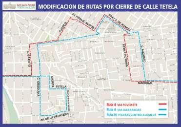 Modifican rutas de transporte urbano por obras en avenida Muñoz