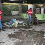 Redoblan labores de limpieza nocturna en primer cuadro de la ciudad