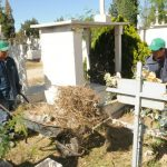 Continúan las labores de limpieza en panteones municipales