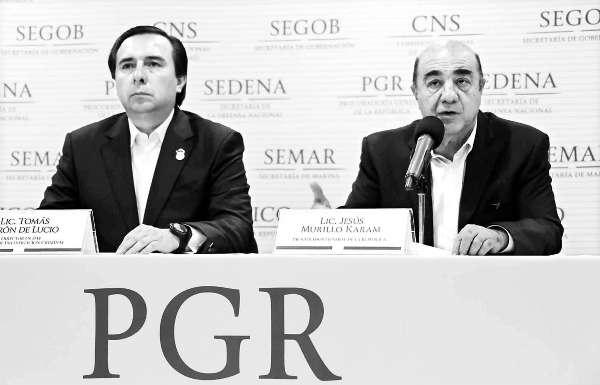 Detenidos, cuatro miembros de Guerreros Unidos, informa PGR