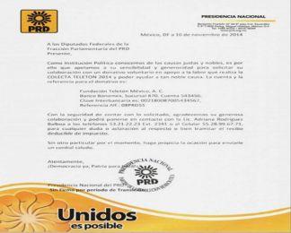 Carlos Navarrete envía carta a diputados para pedirles que donen al Teletón