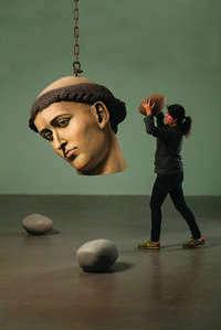 Muestran la reinterpretación de Landy a imágenes renacentistas