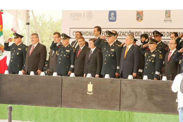 Asiste Toranzo al arranque del nuevo Cuartel de la Policía Militar