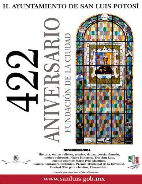Inician actividades del 422 aniversario de la fundación de la ciudad de SLP