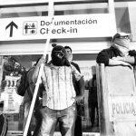 Manifestantes bloquearon las actividades en el aeropuerto de Acapulco