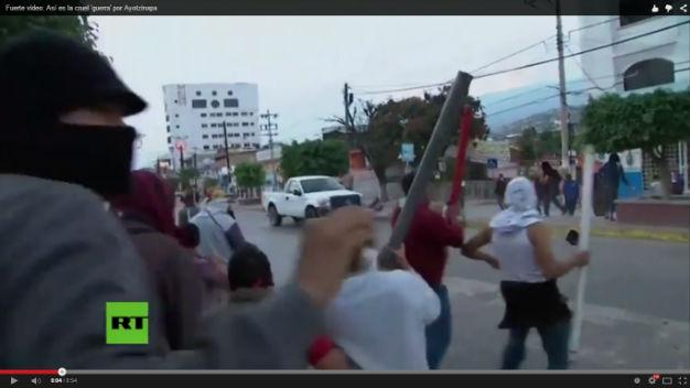 Video en portal de Rusia Today sobre violencia en Chilpancingo